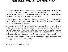 Solidarietà al writer CIBO