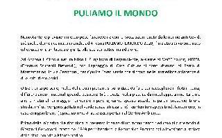 PULIAMO IL MONDO AL PARCO MONTEMARINO