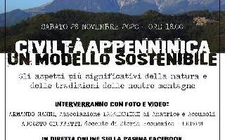 CIVILTA' APPENNINICA - SABATO 28 NOVEMBRE ORE 18,00