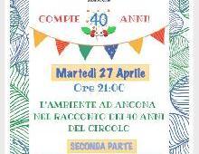 I 40 ANNI DEL PUNGITOPO - MARTEDI' 27 APRILE LA SECONDA SERATA